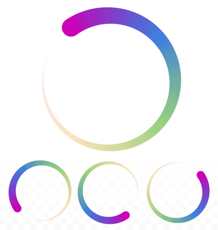 Preloader, circular shape. Segmented circle Illustration