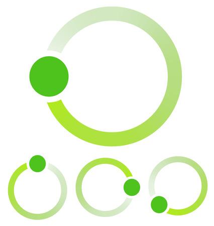 advancement: Preloader, circular shape. Segmented circle Illustration