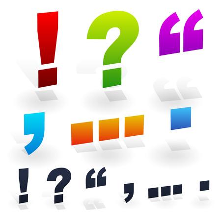 question mark: Satzzeichen