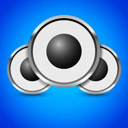 sub woofer: Loudspeaker, speaker, music or audio vector image Illustration