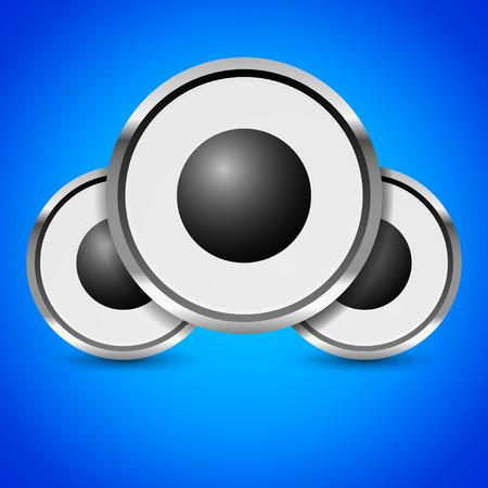 Loudspeaker, speaker, music or audio vector image Illustration