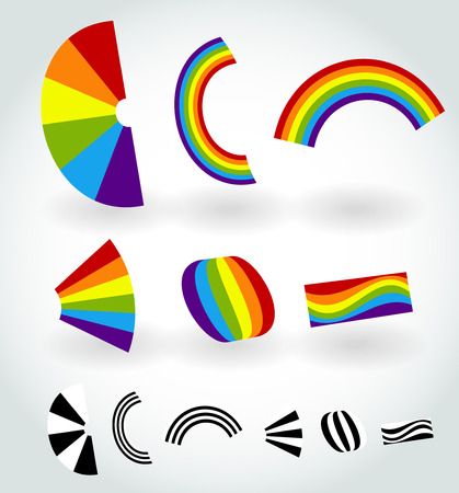color theory: Rainbow vector. Happiness, nature, RGB colors.