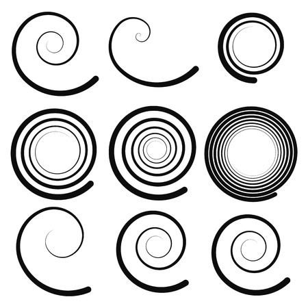 hypnotism: Elementos espirales Vectores