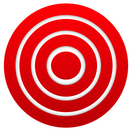 marksmanship: Red target. Graphics for target, bullseye, goal, aim concepts.