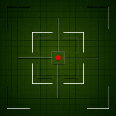 marksmanship: Crosshair, aim, target, targeting, viewfinder vector Illustration