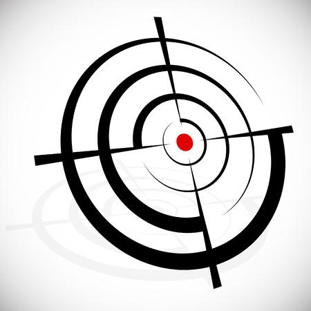 십자선, 십자선, 뷰 파인더, 목표 그래픽 일러스트