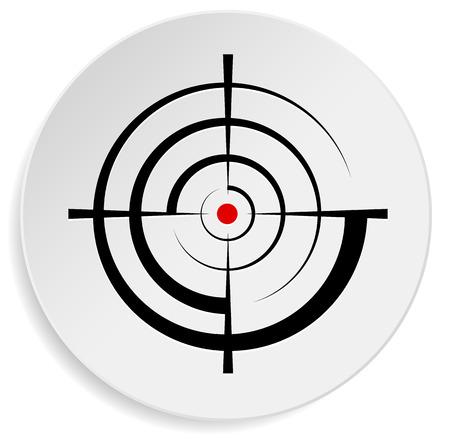 Punto de mira, retícula, visor gráfico de destino Foto de archivo - 32300475