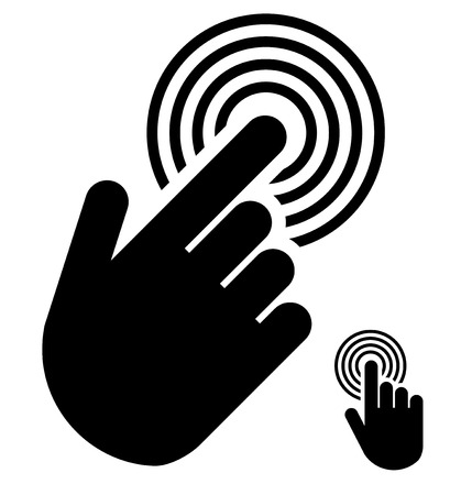 Touch or touchscreen symbol