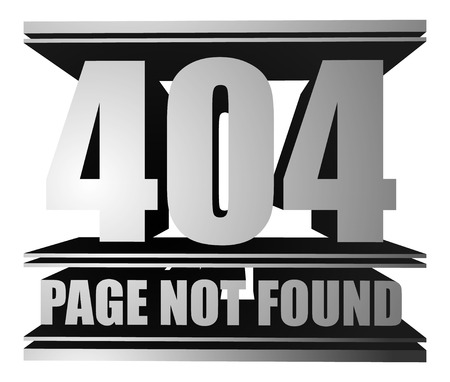 not found: Page not found, 404 vector