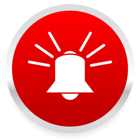 Ringing bell. alarm, emergency, siren, security system vector. Vector