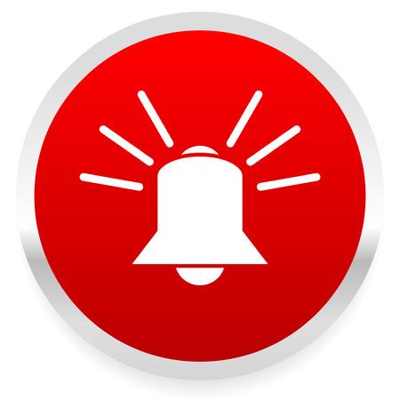 Ringing bell. alarm, emergency, siren, security system vector.