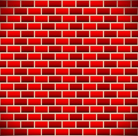 brickwall: Brickwall, fondo de ladrillo enlosables. Vector.