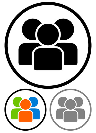 Simple characters, figures, group graphics. Vector