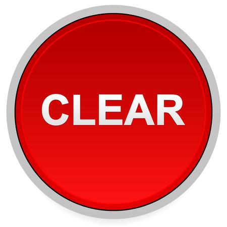 neutralizować: Red clear button