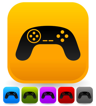 remotes: Illustration of game controllers, remotes. Pc, console gaming