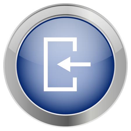d�vorer: Entr�e, ic�nes de porte ou ic�ne de collecte, de collecte, les concepts d'int�gration Illustration