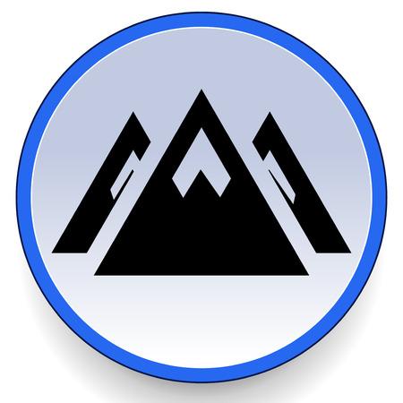 pinnacle: Mountain peak icon.