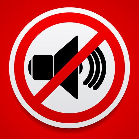 Speaker con probition segno. Silenzio, mute.