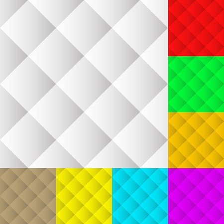 Square pattern set. Squarish seamless repeatable pattern, background set in different colors. Vector