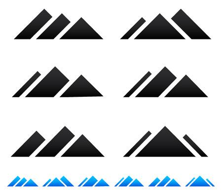 pinnacle: Peak, mountain pictogramms