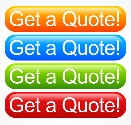 Vivid quote buttons Vector