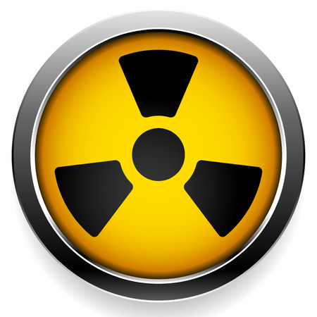 nuclear fission: Radioactive symbol. Radiation icon.