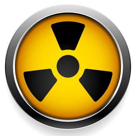 Symbole radioactif. icône de rayonnement. Vecteurs