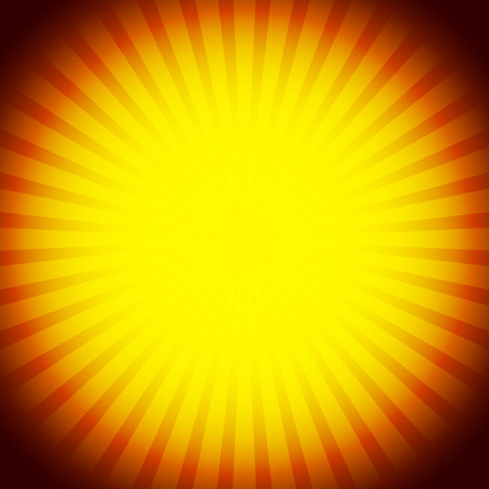 flash point: Abstract rays, glowing, sunburst background.