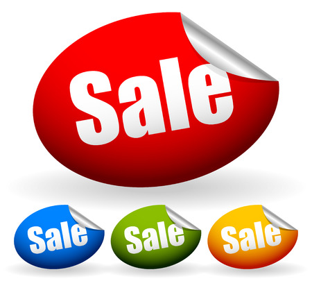 Stickers with word Sale