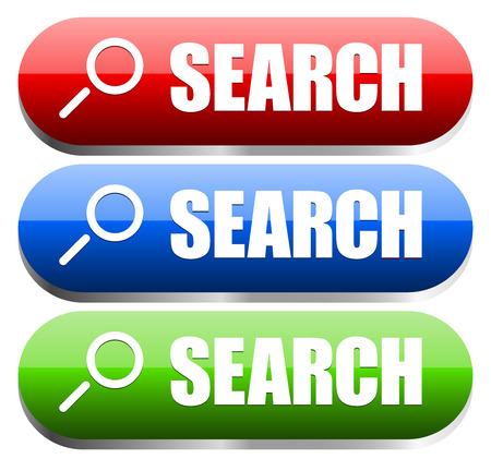 Search buttons in different colors Vector