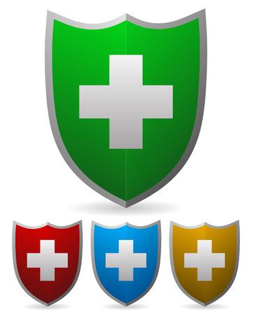 Vector shield elements Illustration