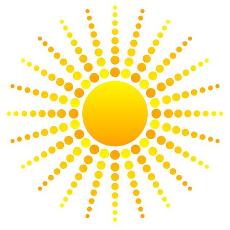 sun tan: Abstract sun