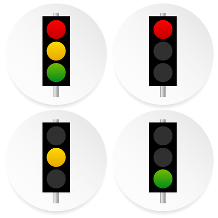 traffic pole: Traffic lamps, signals on circles