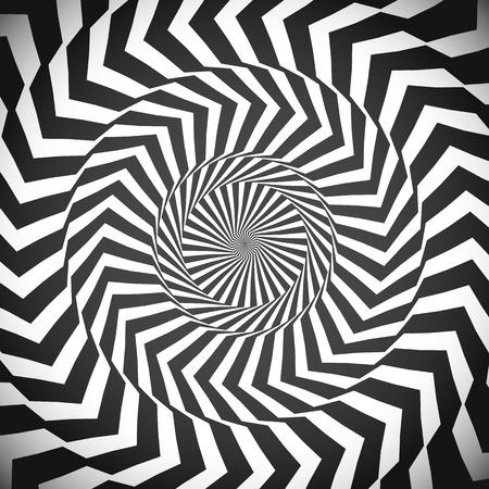 hypnotized: Angular spiral background. whirlpool, hypnotism, rays, rotation, abstract, whirl, whorl, swirl background Illustration