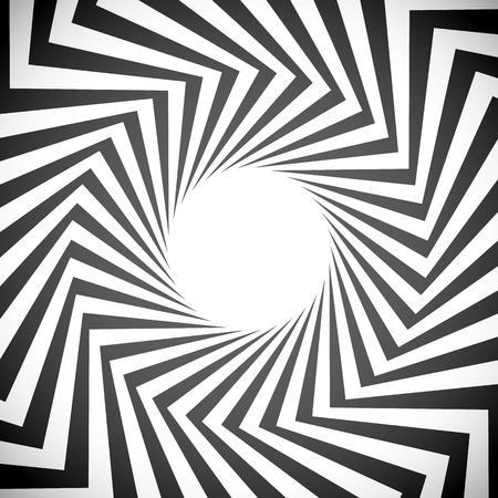Angular spiral background. whirlpool, hypnotism, rays, rotation, abstract, whirl, whorl, swirl background Illustration