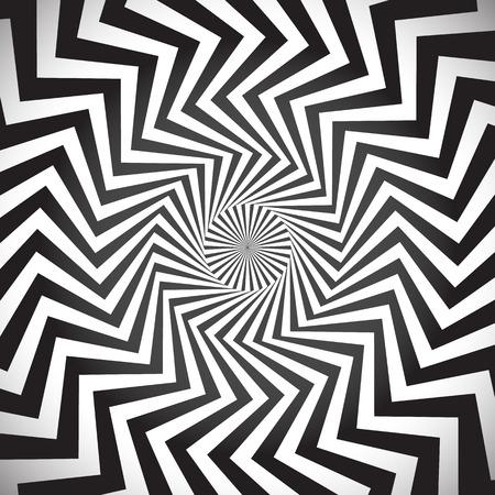 角スパイラル背景。ワールプール催眠術、光線、回転、抽象、渦、渦巻き、渦巻き模様の背景