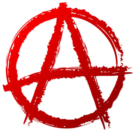 Anarchy symbol or sign. Anarchy, punk, anarchism, anarchist, antisocial vector symbol. Vettoriali