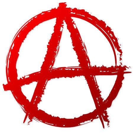 Símbolo de la anarquía o signo. La anarquía, punky, anarquismo, anarquista, símbolo vector antisocial.