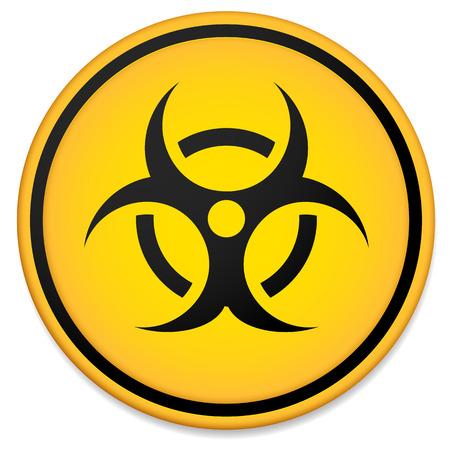riesgo biologico: Símbolo de riesgo biológico, signo