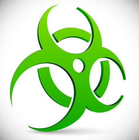 the bacteria signal: Biohazard symbol, sign
