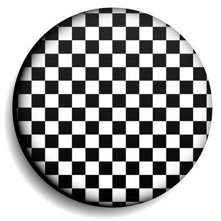 surrealistic: Checkered circle, checkered sphere