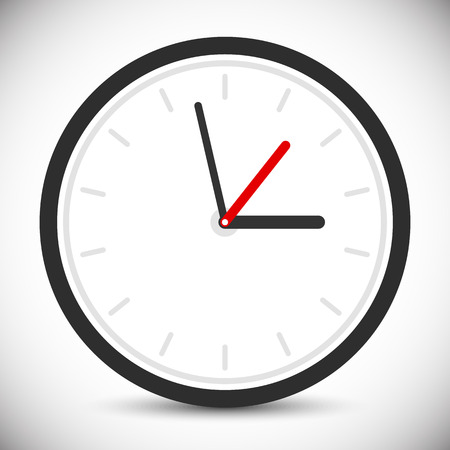24h: Wall clock icon. Instrument of time. Clock sign, symbol Illustration