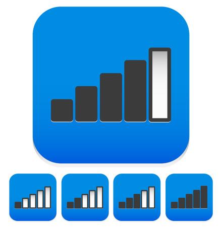 rating gauge: signal strength indicator or general level indicator. gauge, rating, measuring concepts