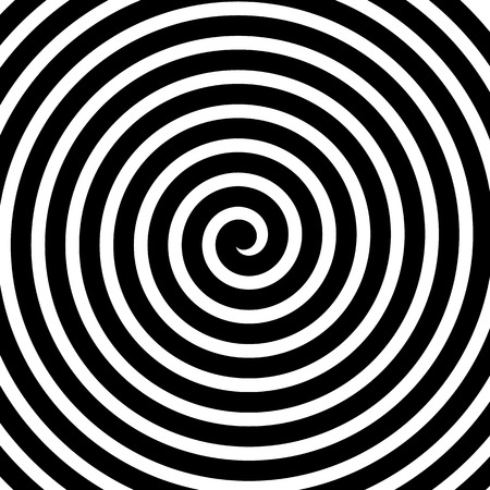 Volute, spiral, concentric lines, circular motion, rotating background Ilustracja