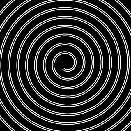 hypnotize: Volute, spiral, concentric lines, circular motion, rotating background Illustration