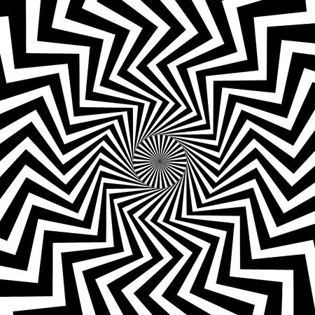 eyestrain: Swirling background. Abstract shapes forming vortex phenomenon. Angular version