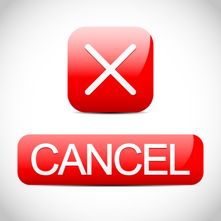 cancellation: Cross sign with cancel button. Cancel, cancellation concept.