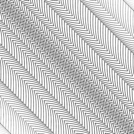 diagonally: Zigzag lines diagonally Illustration