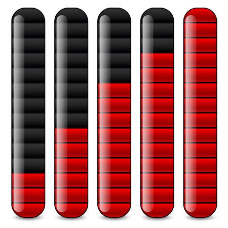 Vertical bars, loading bars, indicators Vector