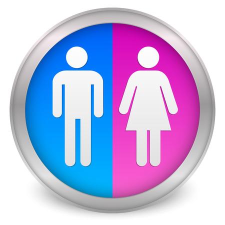 Male, female symbols Stock Illustratie